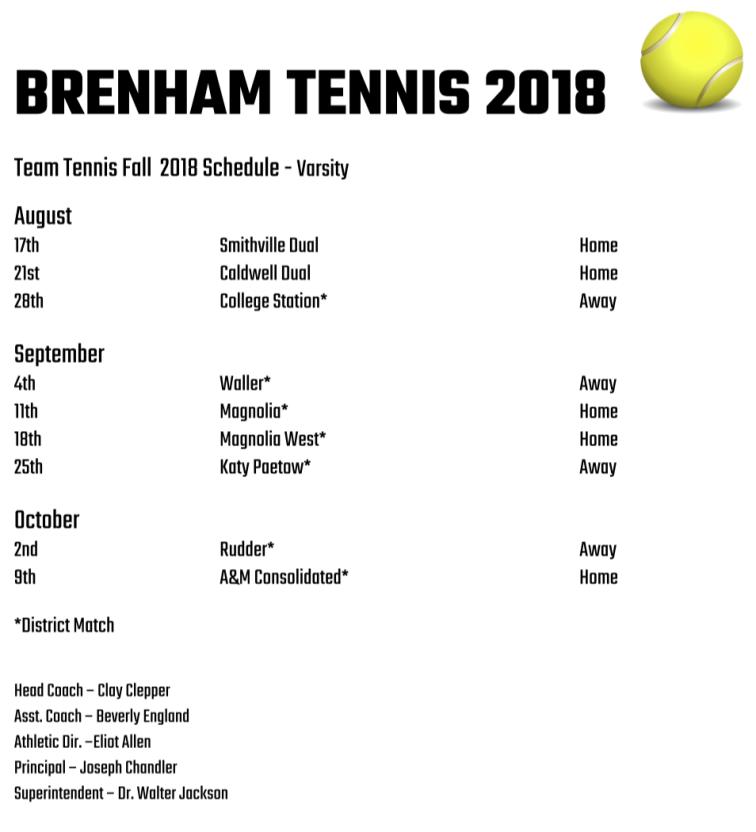 Brenham tean tennis