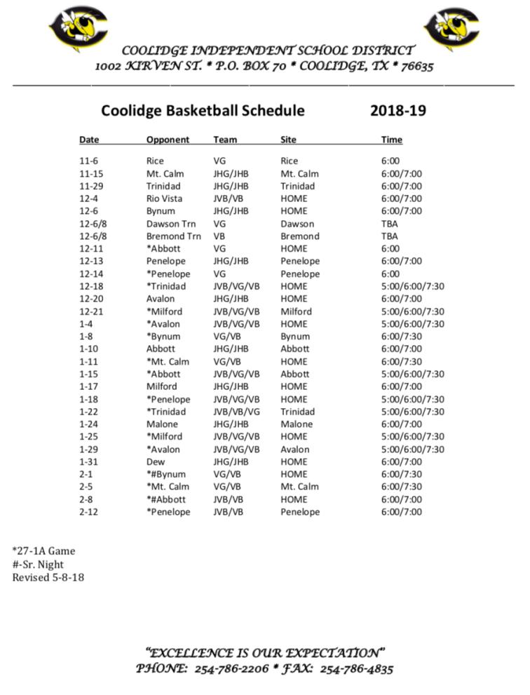 Coolidge basketball