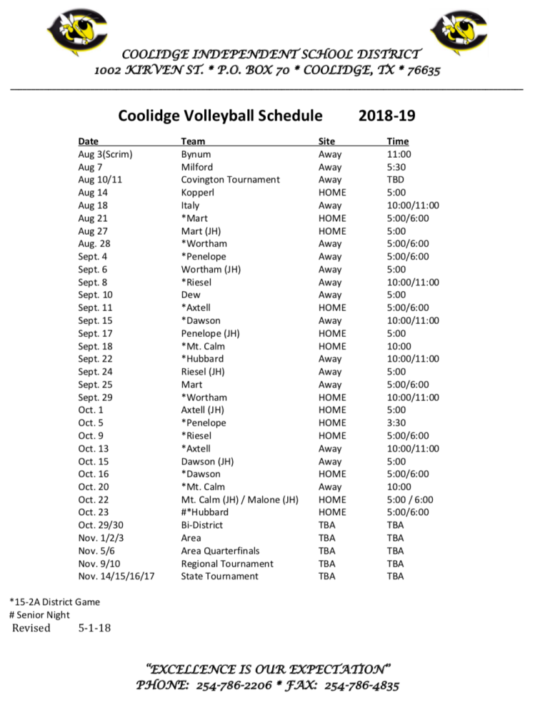 Coolidge volleyball