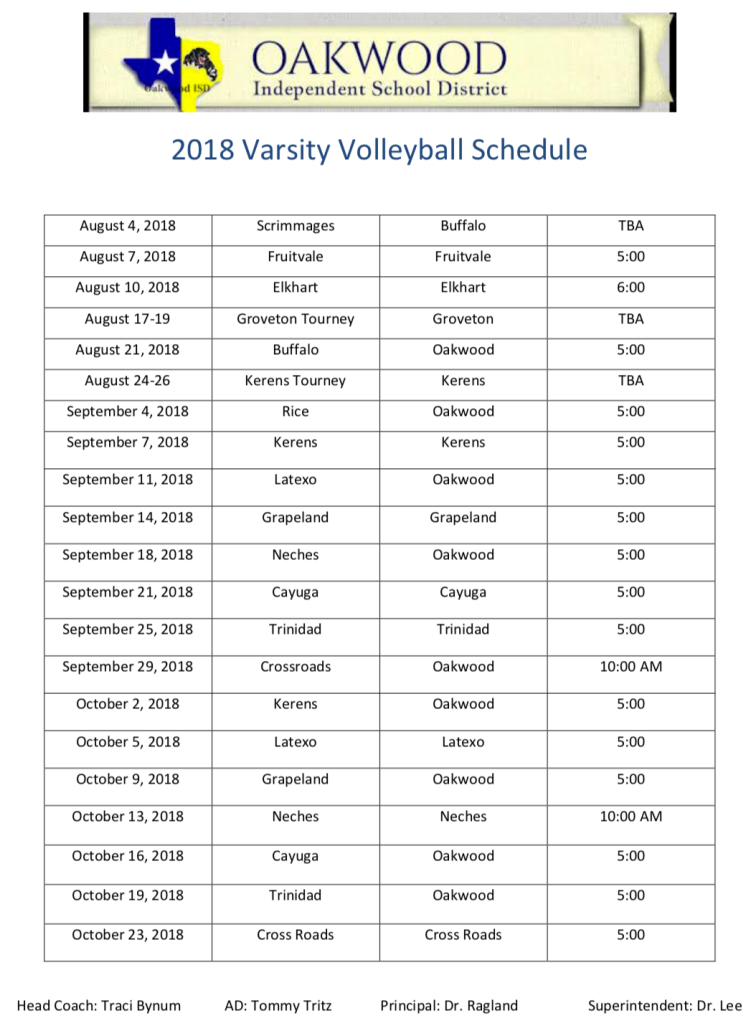 Oakwood volleyball