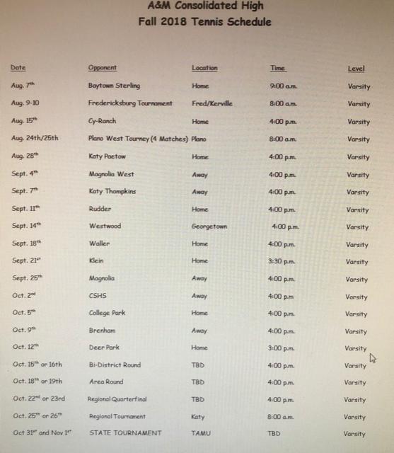 AMC-Tiger-2018-Tennis-Schedule