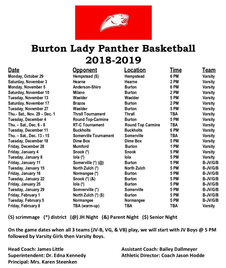 Burton girls hoops